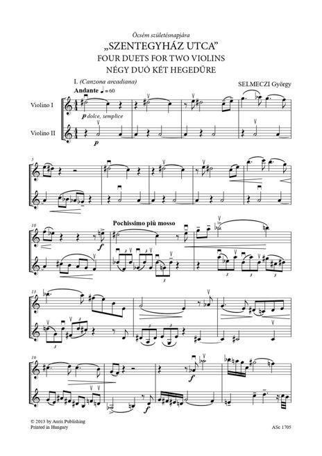 """""""Szentegyház utca"""" - Négy duó két hegedűre"""