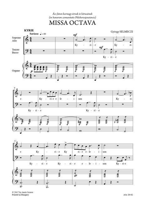 VIII. Mise, X. Mise - vegyeskarra és orgonára (vagy zongorára)