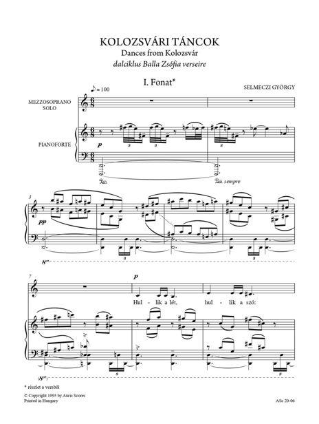 """Daloskönyv II. """"Dalok a függő városból"""" énekhangra és zongorára"""