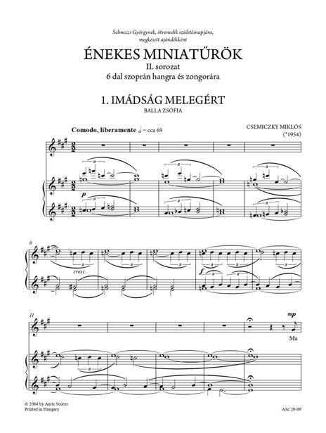 Miklós Csemiczky: Miniatures for singing - Series II.